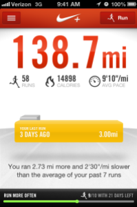 Nike+ Running App for Half Marathon Training